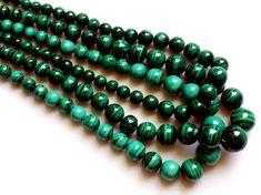 Malachite Beads Malachite Plain Round Balls by gemsforjewels