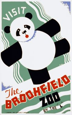 Visit the Brookfield Zoo, WPA poster, ca. 1937