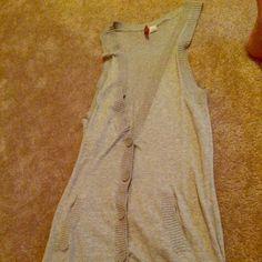 Brand New Long Vest I'm selling this brand new long vest. Very flattering. H&M Tops