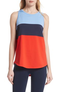 TORY SPORT Colorblock Performance Tank