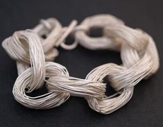 Contemporary jewellery design with chunky wire links