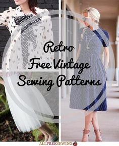 54 Retro Free Vintage Sewing Patterns | AllFreeSewing.com