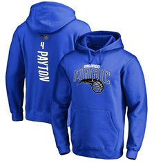 Elfrid Payton Orlando Magic Fanatics Branded Stacked Name & Number Pullover Hoodie - Blue - $51.99