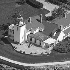 Aerial view Nayatt Point Lighthouse...
