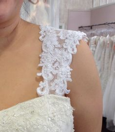 Removable Alencon lace straps # 53 by rosemarydesignsbride. Explore more products on http://rosemarydesignsbride.etsy.com