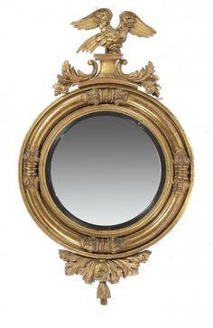 Espelho do inicio do sec.19th, 1830, em madeira gilded a ouro, 119cm de altura, 4,255 USD / 3,880 EUROS / 16,020 REAIS / 27,870 CHINESE YUAN soulcariocantiques.tictail.com