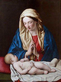 Giovanni Battista Salvi (Sassoferrato)(1609-1685)  Madonna con Bambino  Olio su tela Musée du Louvre