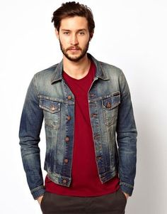 $301, Nudie Jeans Nudie Denim Jacket Perry Organic Indigo Stitch Wash. Sold by Asos. Click for more info: https://lookastic.com/men/shop_items/1222/redirect