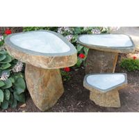 """GRANITE  IS  FOREVER  """"ATTRACT MORE BIRDS WITH WINTER BIRDBATHS. Water is vital for wild birds all year round.  Cold weather in northern climates brings a special challenge to survival because natural water sources are often frozen.  Providing ice-free water for drinking and feather maintenance can be life-saving for our feathered friends."""""""