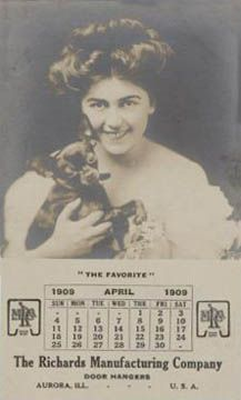 Vintage calendar with chihuahua