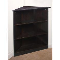 GiftMark Corner Bookcase, Espresso, As Shown Modular Storage, Cube Storage, Corner Bookshelves, Bookcase, Home Office Furniture, Kids Furniture, Front Closet, Easy Paintings, Espresso