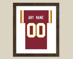 Washington NFL Team Colors 8x10 print  Jersey by CSportImages