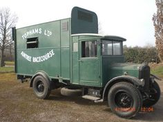 932 Dennis Horse Ambulance, chassis/cab by Dennis Motors, unique Horse Ambulance body by Dennis Brothers & Sons Ltd. Built in 1932 for the RSPCA to use on the Grand National Course at Aintree.