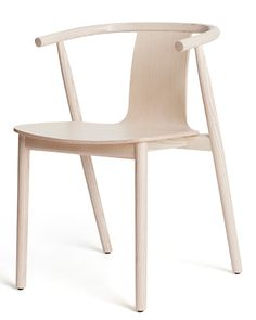 """""""This chair has a simple ele- gance,"""" says Eisner, adding that it's reminiscent of Chi- nese furniture. """"The design is so open and airy, it could lighten up a room,"""" he adds. Greenhill is a fan of the white- stained ash and curved arms. """"I see this in both a modern, formal room and a family breakfast area,"""" she says. The chair comes in a variety of finishes. 21"""" w. x 20"""" d. x 29"""" h.; $940; www.cappellini.it"""