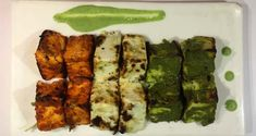 Achari Paneer Tikka Recipe - Your favourite snack Paneer Tikka flavoured with tangy spices. Achar is basically pickle which is often accompanies Indian food. This recipe of Achari Paneer Tikka is an ideal appetizer for a dinner party or a get-together with friends and family. A special tricolor tikka recipe for Republic day, curated exclusively by Chef Bikram of Desi Vibes.