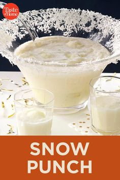 Snow Punch recipes and nutrition and drinks recipes recipes celebration diet recipes Christmas Punch, Christmas Cocktails, Holiday Drinks, Christmas Desserts, Christmas Baking, Fun Drinks, Yummy Drinks, Holiday Recipes, Yummy Food