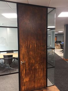 Rust effect Office door Rust IT painters. Painters, Armoire, Tall Cabinet Storage, Rust, Doors, Furniture, Home Decor, Clothes Stand, Decoration Home