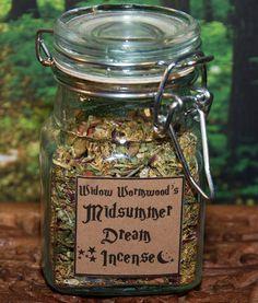 Wiccan Herb Incense - Midsummer Dream Magic Incense Moon Magic Wicca Wiccan Incense Ritual.