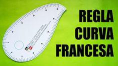 Regla curva francesa para imprimir