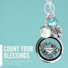 Count Your Blessings jessicadbertrand.OrigamiOwl.com  Facebook.com/JessicaDBertrandIndependentDesigner