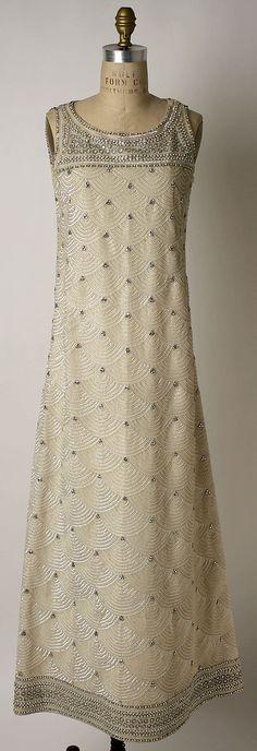 Evening dress Mila Schön (Italian, born Yugoslavia, 1916–2008 Alessandria) Date: 1963–64 Culture: Italian Medium: synthetics, glass, plastic Dimensions: Length: 55 1/2 in. (141 cm)