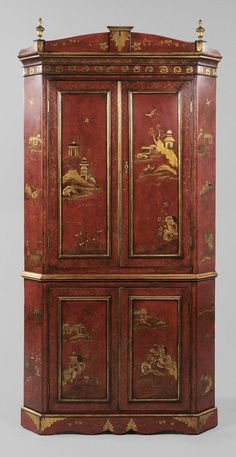 English Chinoiserie Chest-influenced by the Chinese and featured fantastic landscapes as seen in this chest - June 15 2019 at Corner Furniture, Asian Furniture, Chinese Furniture, Oriental Furniture, Furniture Styles, Baker Furniture, Coastal Furniture, Fine Furniture, Hand Painted Furniture