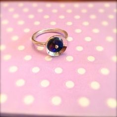 sterling silver and titanium ring Titanium Rings, Sterling Silver Jewelry, Sapphire, Handmade Jewelry, Stud Earrings, Studs, Titanium Ring, Stud Earring, Diy Jewelry