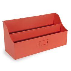 Porte-courrier en métal rouge CAPRI