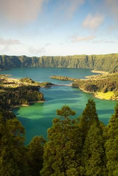 Flores Island, Azores, Portugal. Flores is the western-most island in the Azores archipelago off the coast of Portugal. The island gets its name from the wild flowers (flores) that dot its landscape.