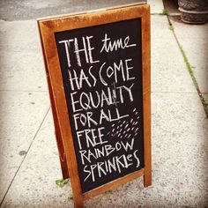 free rainbow sprinkles!