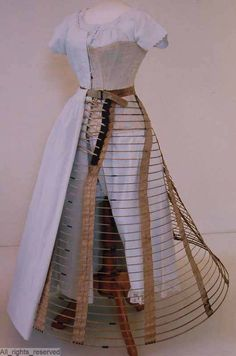 Mid-1860s cage and other underthings, very cleverly displayed. ModeMuseum Provincie Antwerpen. [jrb]