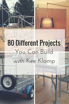 80 Different Projects You Can Build with Kee Klamp #KeeKlamp #DIY #pipefurniture
