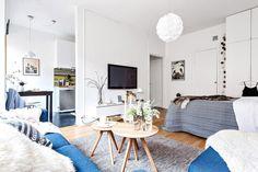 Jurnal de design interior: Amenajare scandinavă într-o garsonieră de 38 m²
