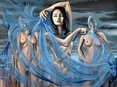 painting by Tomasz Machoń 120x90