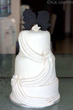 - Cascading Drapes Wedding Cake