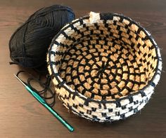 Todays crochet basket made with jute and cotton ropes...