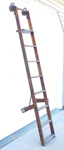 antique library ladder
