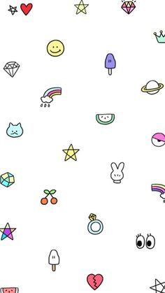 Art Design with Cute Drawing Background Wallpaper Kawaii Wallpaper, Wallpaper Iphone Cute, Tumblr Wallpaper, Screen Wallpaper, Cool Wallpaper, Mobile Wallpaper, Pattern Wallpaper, Cute Wallpapers, Duck Wallpaper