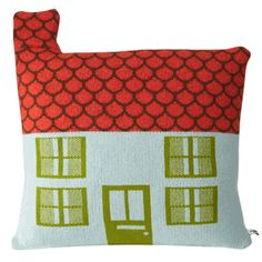 """The pillow measures 12"""" x 12"""" (plus a little chimney) and is knitted in Scotland with 100% lambswool. Cushion comes with a down pillow insert."""