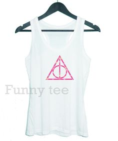 Harry Potter pink galaxy Deathly Hallows tank top by TuesdayTee