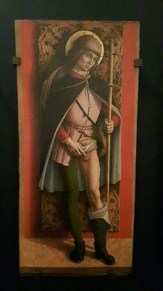 San Rocco. Dalla cattedrale di Camerino.1490. Gallerie dell'Accademia di Venezia. A fianco della Madonna della Candeletta