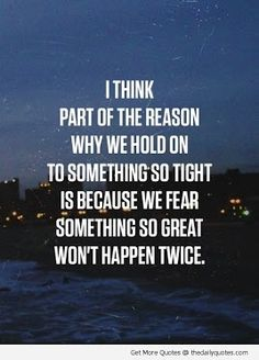 This speaks to both of our lives....and to remember to let go and love life!