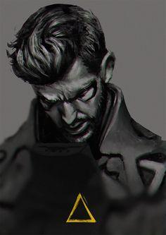 Adam by thesimplyLexi on DeviantArt Zbrush Character, Character Portraits, Deus Ex Universe, High Tech Low Life, Social Order, Dystopian Future, Virtual World, Dark Art, Cyberpunk
