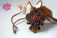 soutache with Gold-stone