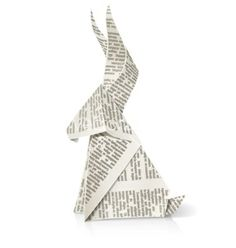Rabbit paper origami toy