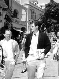 Edward Kennedy in Capri, 1961