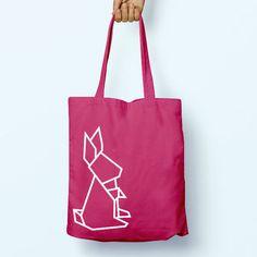 Origami Geometric Rabbit   Illustration Slogan Quote Cotton Shopper Model Tote Bag Shopping Gym Books Tumblr Funny Joke Boy Girl Sack Hipster Cool Cotton Gift Animal