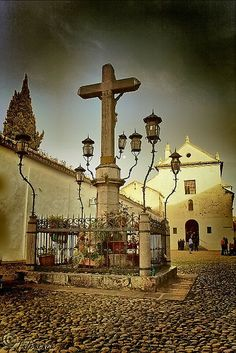 Capuchinos Square, with its famous Christ of the Lanterns. Cordova (Spain)