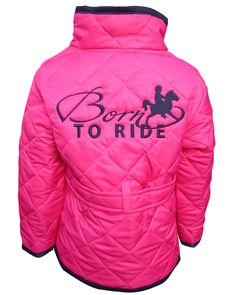 New Just in 'Born to Ride' Infant Quilted Jacket  RRP £24.99 www.horseswithattitude.co.uk