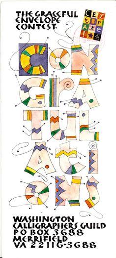 Jo Forsyth | 2008 winnehttp://www.calligraphersguild.org/Graceful/2008Winners/pages/win-Forsyth_TIF.htmr; The Graceful Envelope contest -